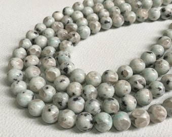 one full strand 8mm  sesame round beads ,semi precious gemstone for honesty bracelet