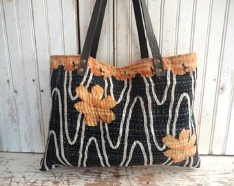 Vintage Kantha quilt Bag Purse 835