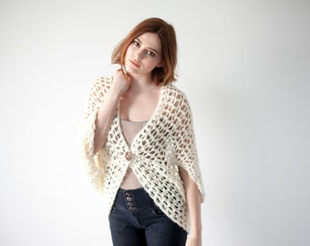 Crochet Pattern Cardigan Shawl Sweater PDF: The Dani Cardigan