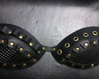 Post-Apocalyptic Wasteland Leather Bra (A-D Cup)