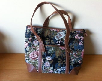 Signare Tapestry Flowers Shoulder Bag Handbag with two Handles