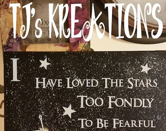 Inspirational Stars Canvas Clock ..I have loved the stars too Fondly