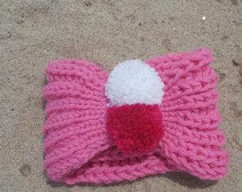 50%OFF, Newborn knit bandana with Pom Pom  headband