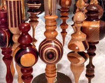 Handmade Wood Turned Christmas Ornaments - Custom Made @ Order