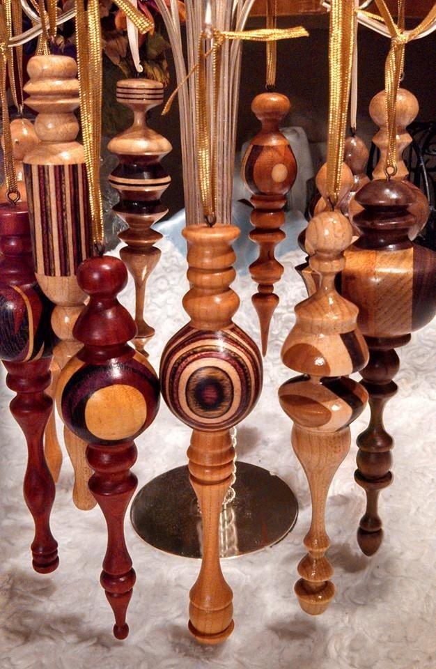 Handmade Wood Turned Christmas Ornaments Custom by ...