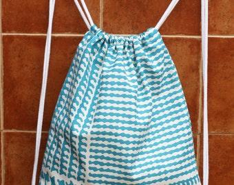 Mochila de tela loneta, mochila de cuerdas