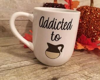 12oz Mug Addicted to Coffee