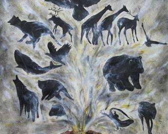 Spirit painting by Jennifer Gollings