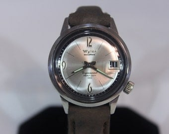 Very Rare 1960 Vintage Dinver Wyler Dynawind Lifeguard 660 Heavy Duty Incaflex Mechanical Watch