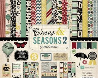 Echo Park Paper Times & Seasons 2 Collection Kit