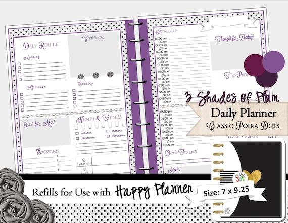 Academic Calendar Planner Refill : Happy planner printable refills daily calendar pdf
