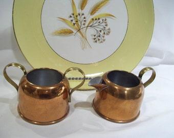 Coppercraft Guild Copper and Brass Creamer Set