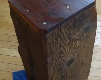 Artisan Barn Beam Stool/Table from Antique Barn