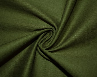 "Olive Stretch Twill #7 Herringbone Cotton Bottom Weight Heavy Spandex Lycra Woven Apparel Fabric Denim Chino 55""-56"" Wide By The Yard"