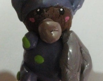 Baby Bear in his Pajamas Clay Figure