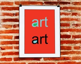 Minimalist red Vintage Wall Art, Quote Prints Decor Download, Modern Art, Digital Print Decor, Printable Modern Art, ART, Graphic Design