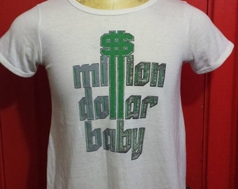 30% OFF SALE 30 Percent OFF Sale Vintage 80s Million Dollar Baby 1980's Soft t-shirt - funny tshirt - humor - gag gift - vintage tees (Small