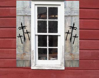 Crosses on Shutters