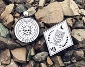 Enamel Pin - Night Owl & Skull Compass Set