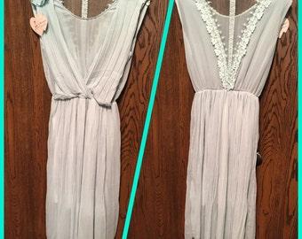 Pretty, pale mint green, flowy style dress