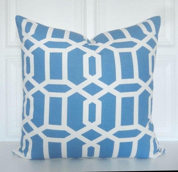 Items similar to Blue Pillow Cover - Decorative Pillow Cover - 18x18, 20x20, 22x22, Lumbar ...
