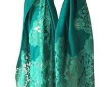 Jade Green Pashmina with Chan