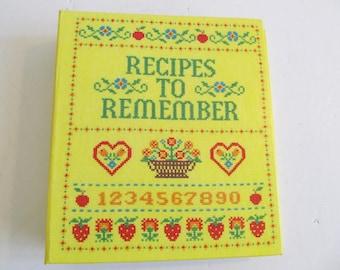 Recipes to Remember, Hallmark, Hallmark Recipes to Remember, Hallmark Recipe Book, Hallmark Recipe Album, Cookbooks, Hallmark Cookbook Files