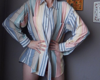 Pastel Vintage Striped Shirt