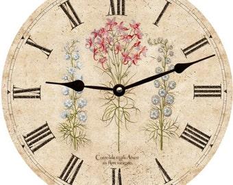 Three Flower Wall Clock