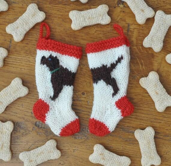 chocolate labrador dog christmas stocking ornament hand