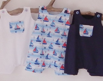 Newborn Baby Boy Clothes Nautical Newborn Rompers by