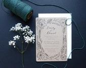 Woodland Wedding Stationery - vintage, rustic, modern, boho, invitation