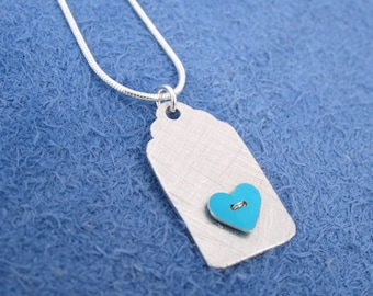 Heart gift tag necklace