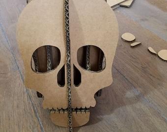 Skull smartphone holder cardboard office decor desk accessories iphone holder cardboard skull 3d eco friendly Halloween gift