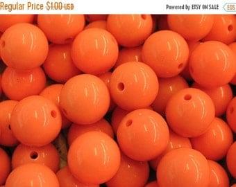 SALE Orange Resin Beads - 12 pieces - Item 50020