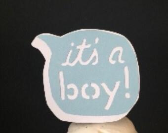 Its A Boy Cupcake Topper