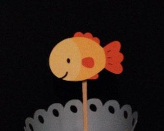 Goldfish Cupcake Topper