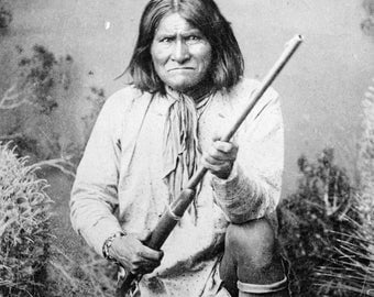 Geronimo, Portrait, Apache, Native American Indian Photo Print