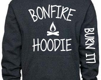 Cute Bonfire Hoodie- Burn it Sleeve ON SALE!!!