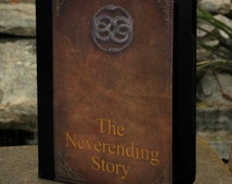 """2012 Edition Kindle Fire HD 7"""" and Kindle Fire HD 8.9"""" Book Cover Case - The Neverending Story old Book Cover"""