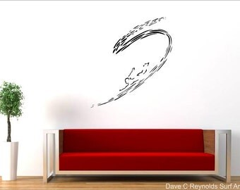 Man and the Ocean Surf Vinyl Wall Decal