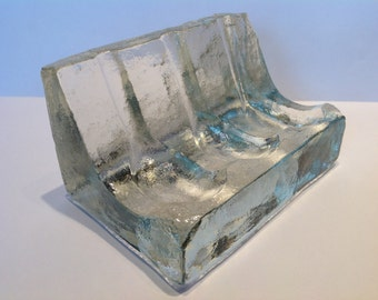 """1950s Pukeberg Crystal """"Carved Ice"""" Pipe Rest. Pipe Smoking. Tobacco Pipe Rest. Swedish Glass. Uno Westerberg. Pukeberg Crystal. Pipes."""