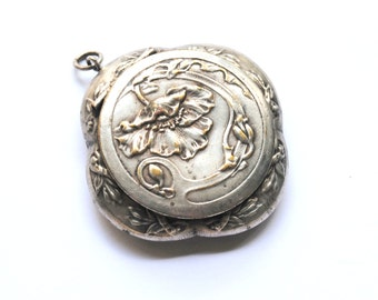 Antique French Powder Compact Pendant