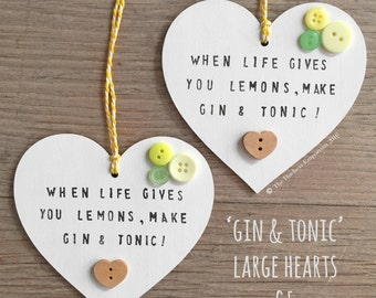 Gin & Tonic - Wooden Heart