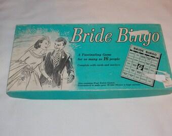 1957 Vintage Bride Bingo Game