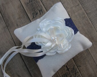 Wedding Ring Bearer Pillow, Wedding Pillow, Wedding Ring Pillow, Ring Bearer, Lace Ring Bearer, Felt Ring Bearer, Vintage Ring Bearer