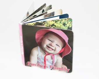 Custom Board Book Photo Book Personalized Board Book - Kids Photo Book - Baby Book, Wow Look @ Me Book