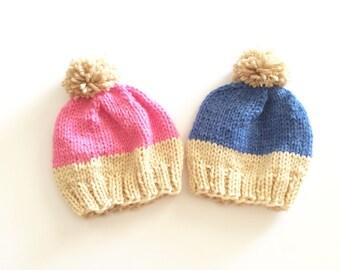 Crochet yoda beanies for twins, yoda beanie, yoda hat, twins beanie, baby gift