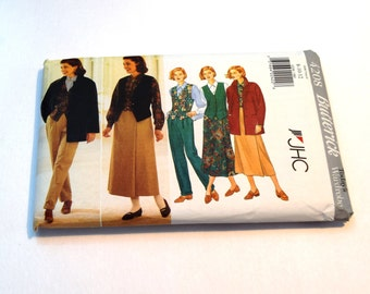 Butterick 4208 misses' jacket, vest, shirt, skirt and pants sewing pattern