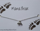 Mama Bear Necklace - New Mom Gift - Mother's Day Present - Bear Pendant Necklace - Mother's Necklace - Baby Shower Gift - Jewelry for Mom